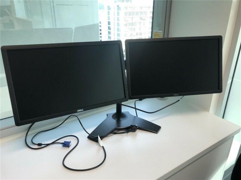 2 x LCD Dell E2213HB Monitors - with dual monitor stand