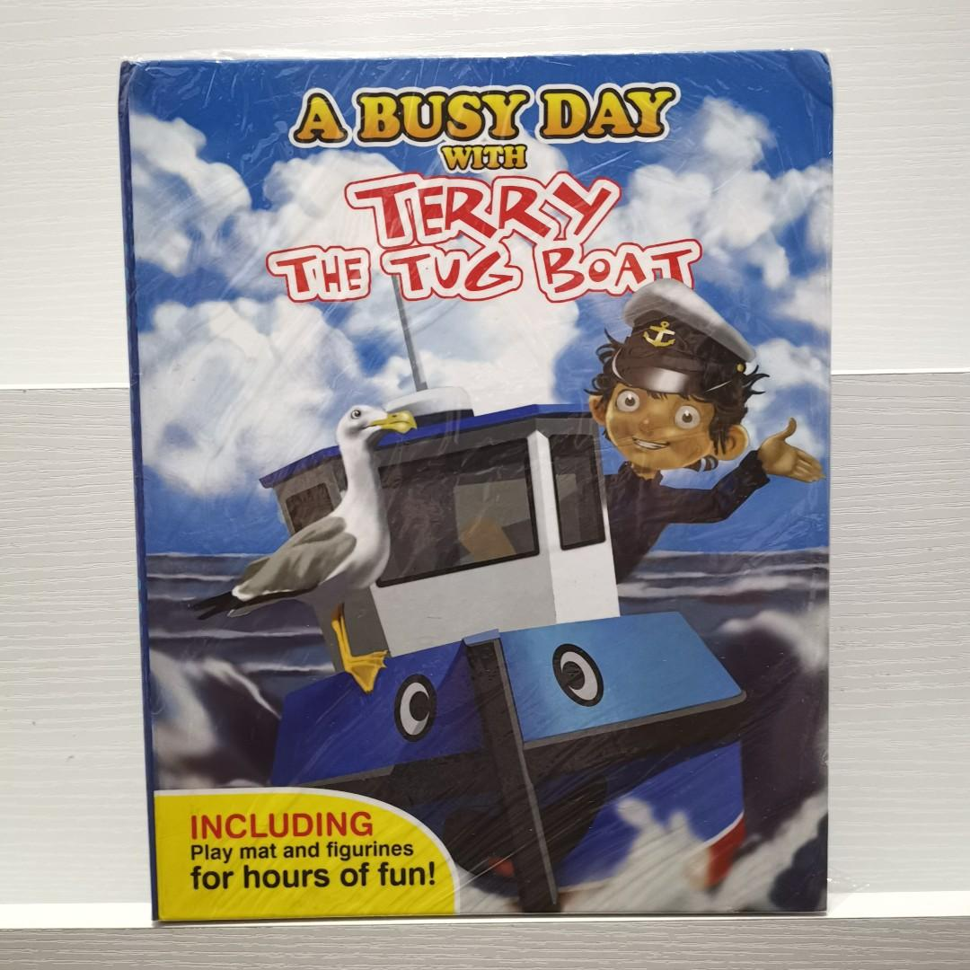 A Busy Day with Terry the Tug Boat My Busy Books Story Book with Toy Figures + Play Mat