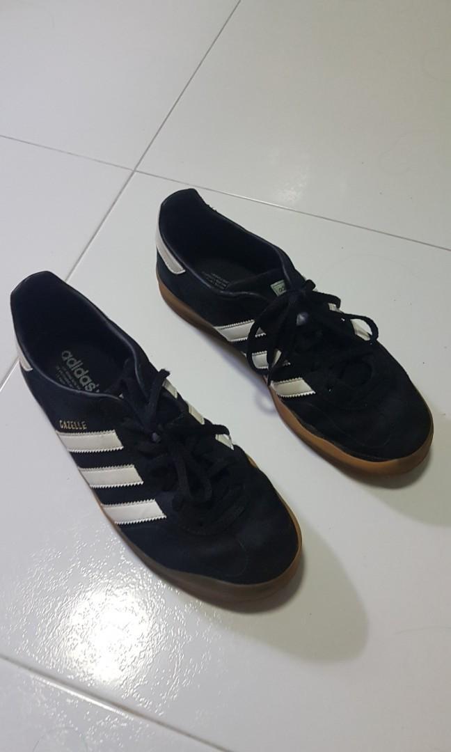 adidas gazelle black gum sole