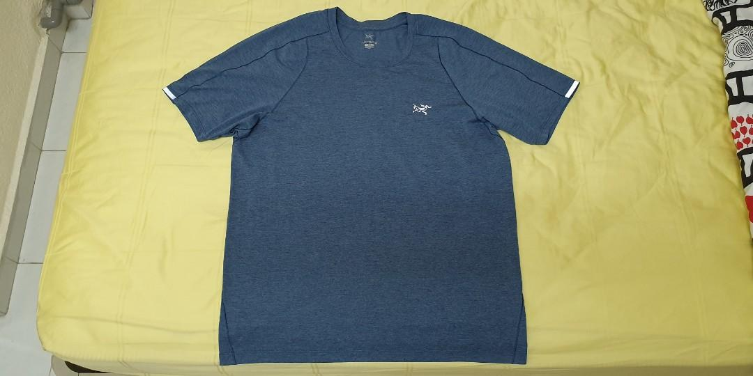 Arc'teryx technical performance blue tee mens small