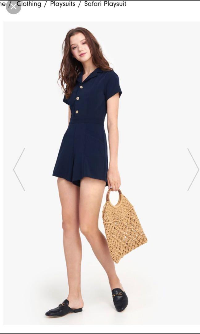 Brand new new with tags fayth safari play suit in navy