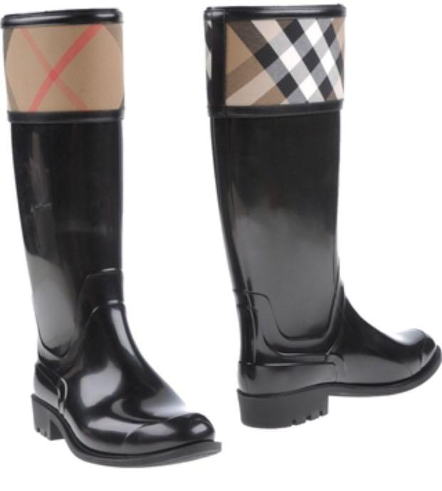Burberry Rubber Rain Boot, Women's