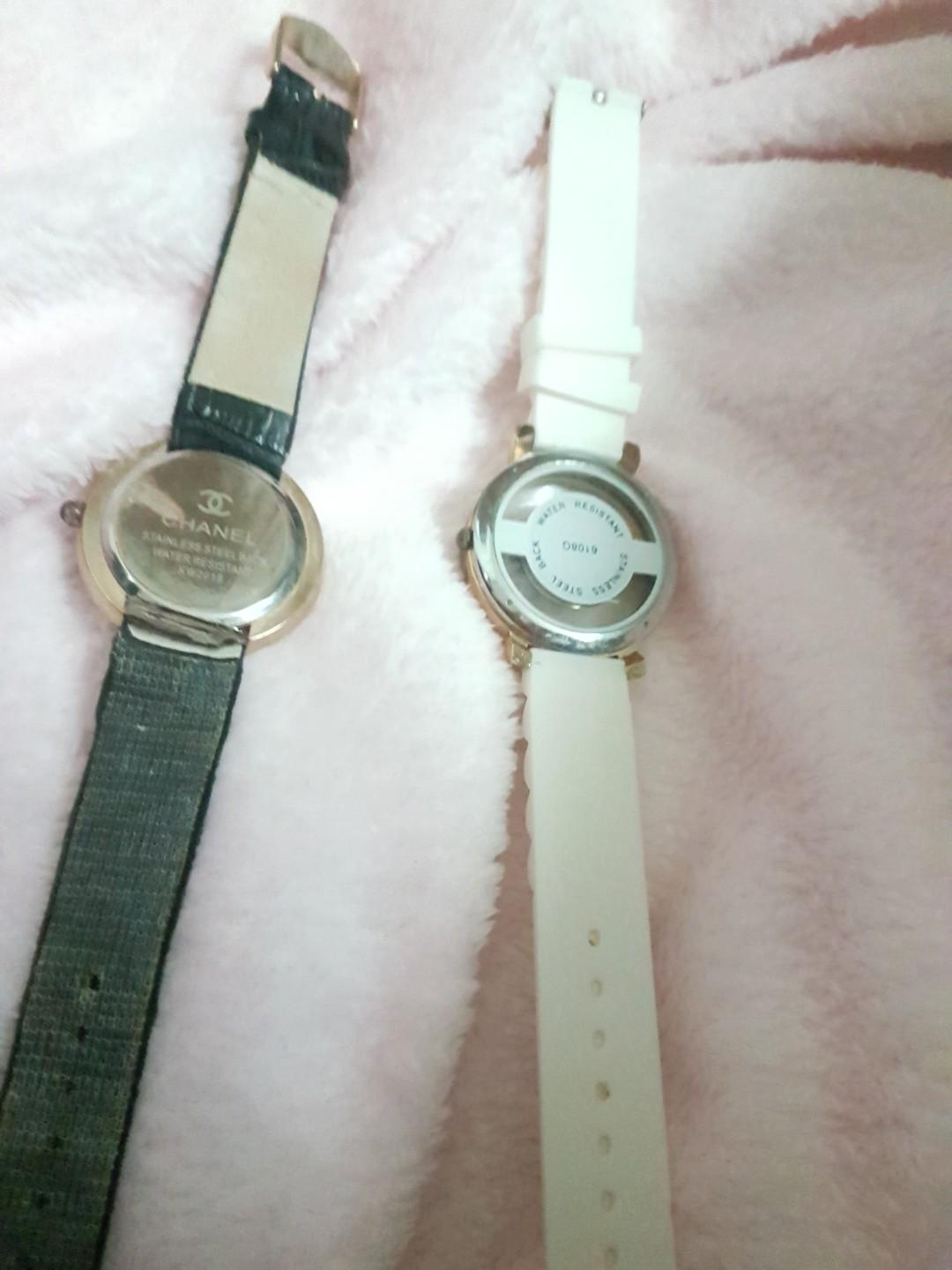 Chanel Camellia and Sports watch Black Mother of Pearl White
