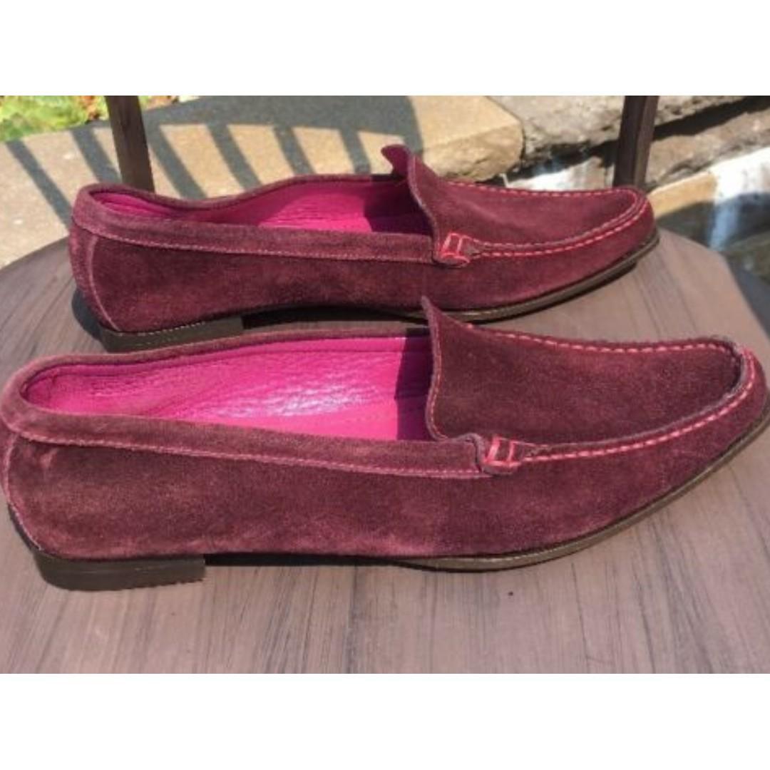 Coach Delayne Women's Size: US7.5 Medium, Purple Suede Oxford Flats Loafer. Original Price USD$275
