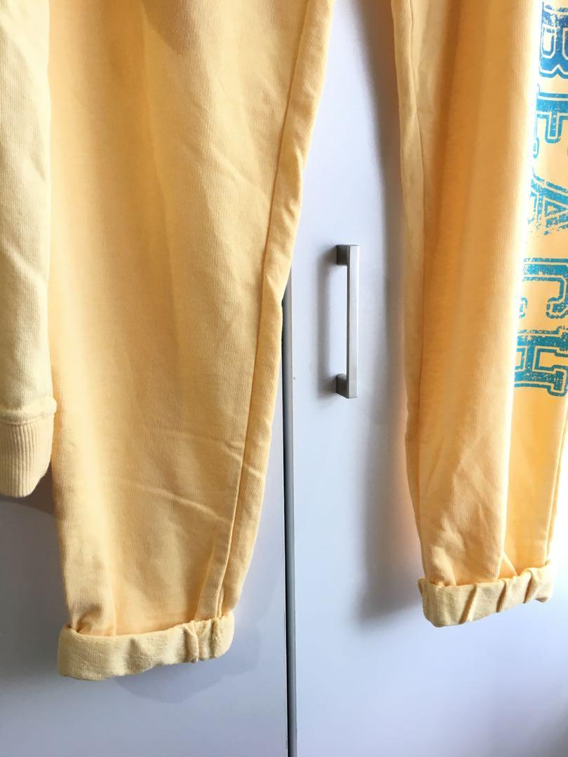 CO-ORD lounge casual comfy set shirt pants top yellow track