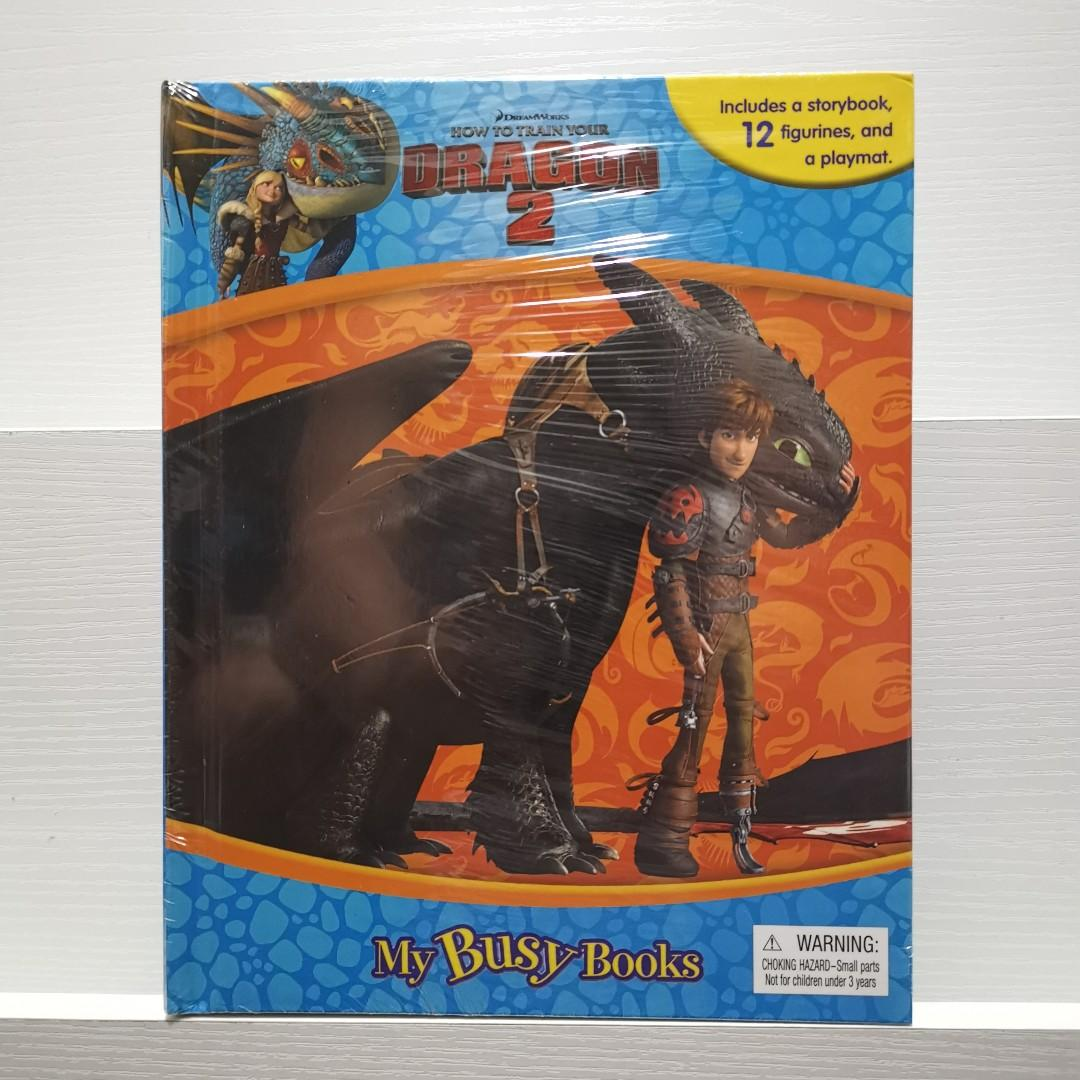 Disney How to Train Your Dragon 2 My Busy Books Story Book with Toy Figures + Play Mat