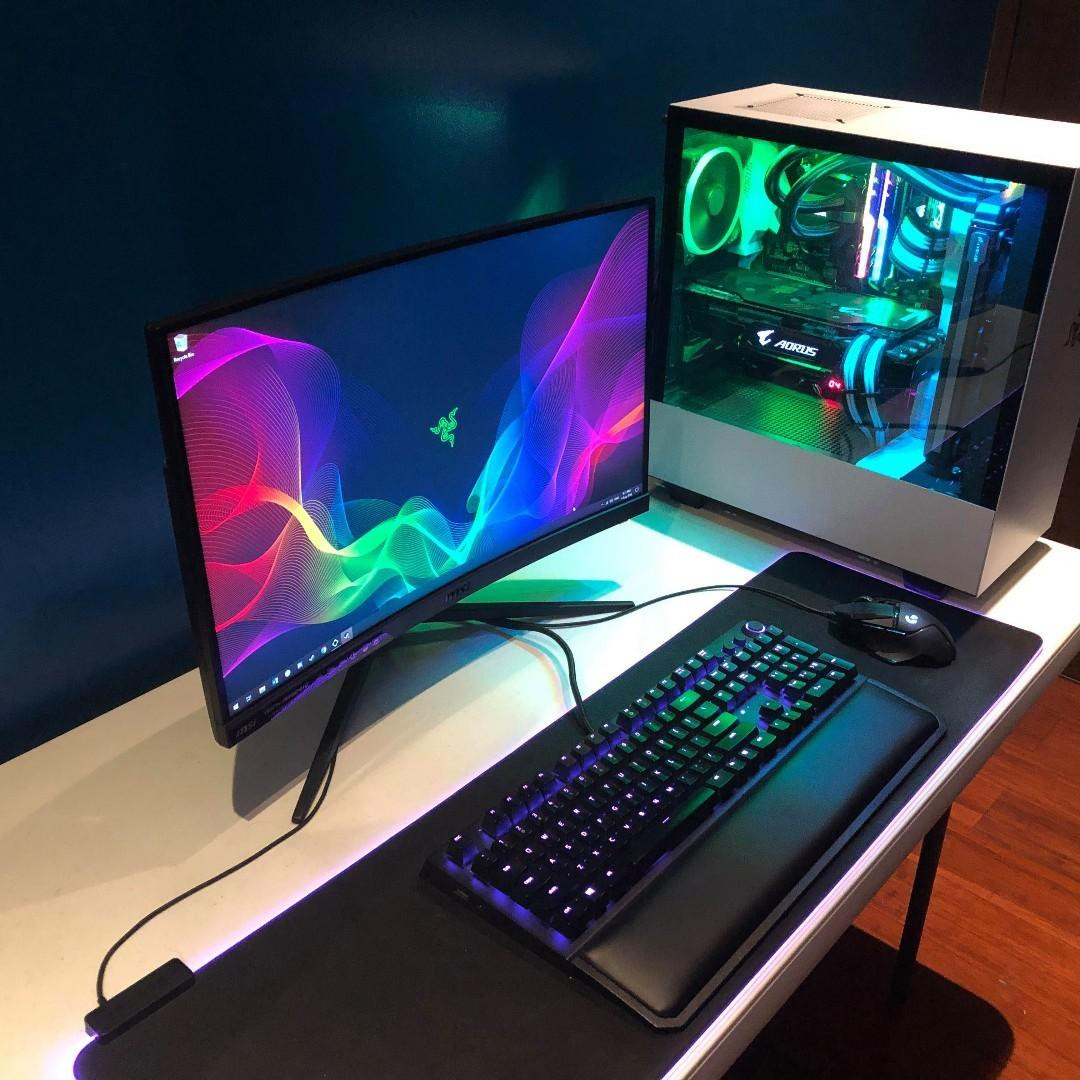 Gaming desktop i7 7700k gtx 1080ti 144hz 1080p cruved