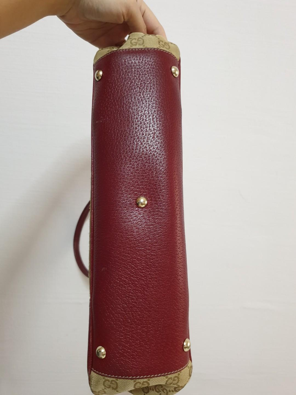 Gucci Canvas & Leather Handbag