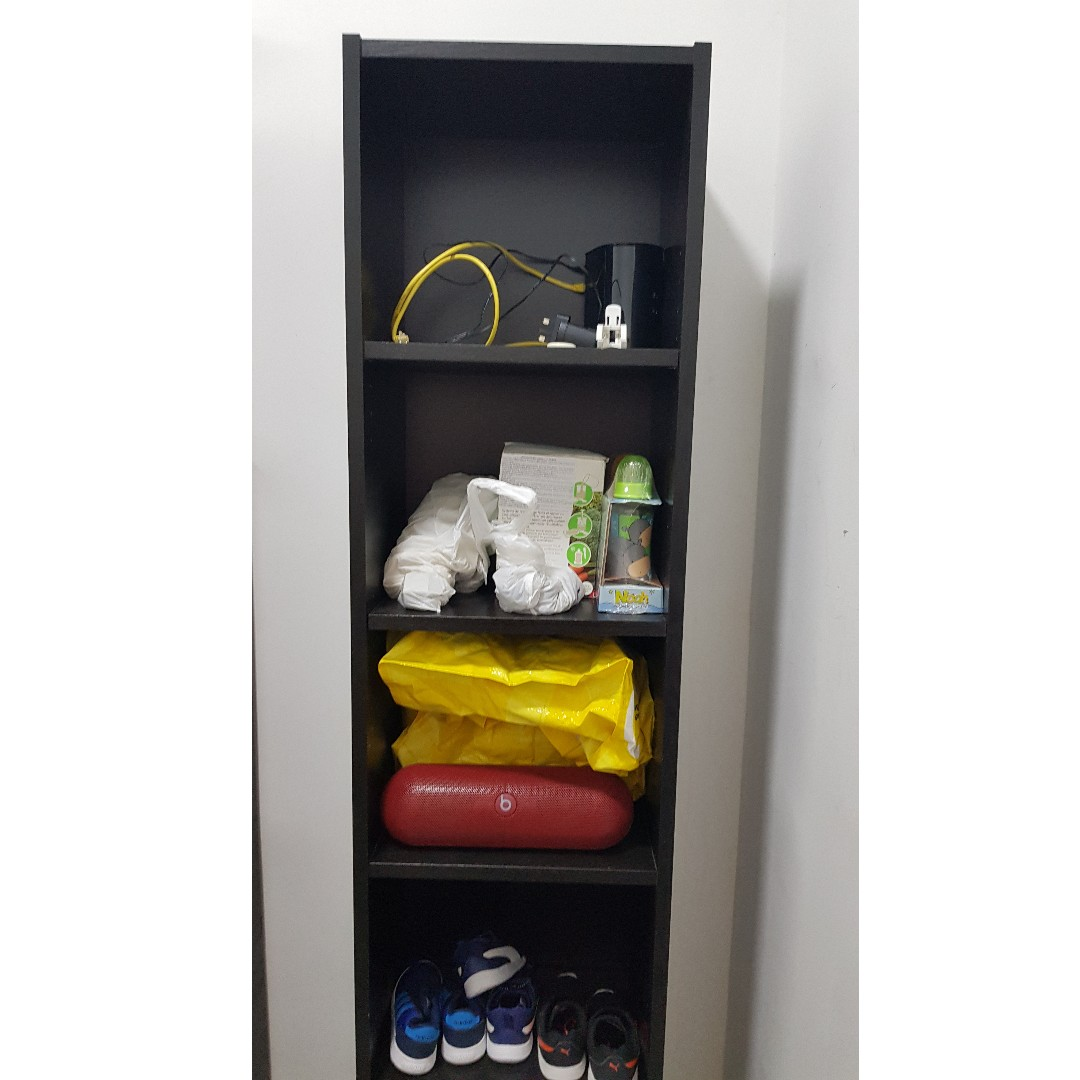 Ikea Billy Bookcase Black Brown 40x28x202 Cm On Carousell