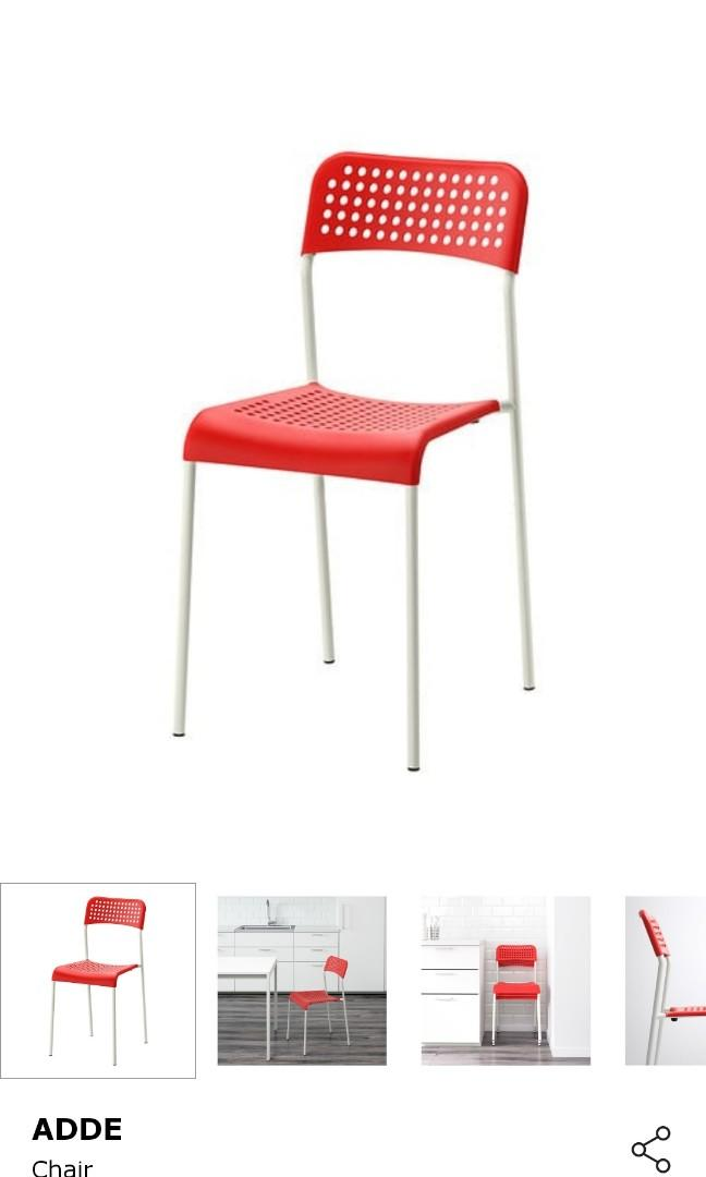 Ikea Table MELTORP & chairs ADDE