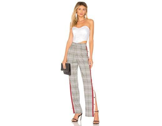 Lovers + Friends Tailored Snap Track Pant - size 8