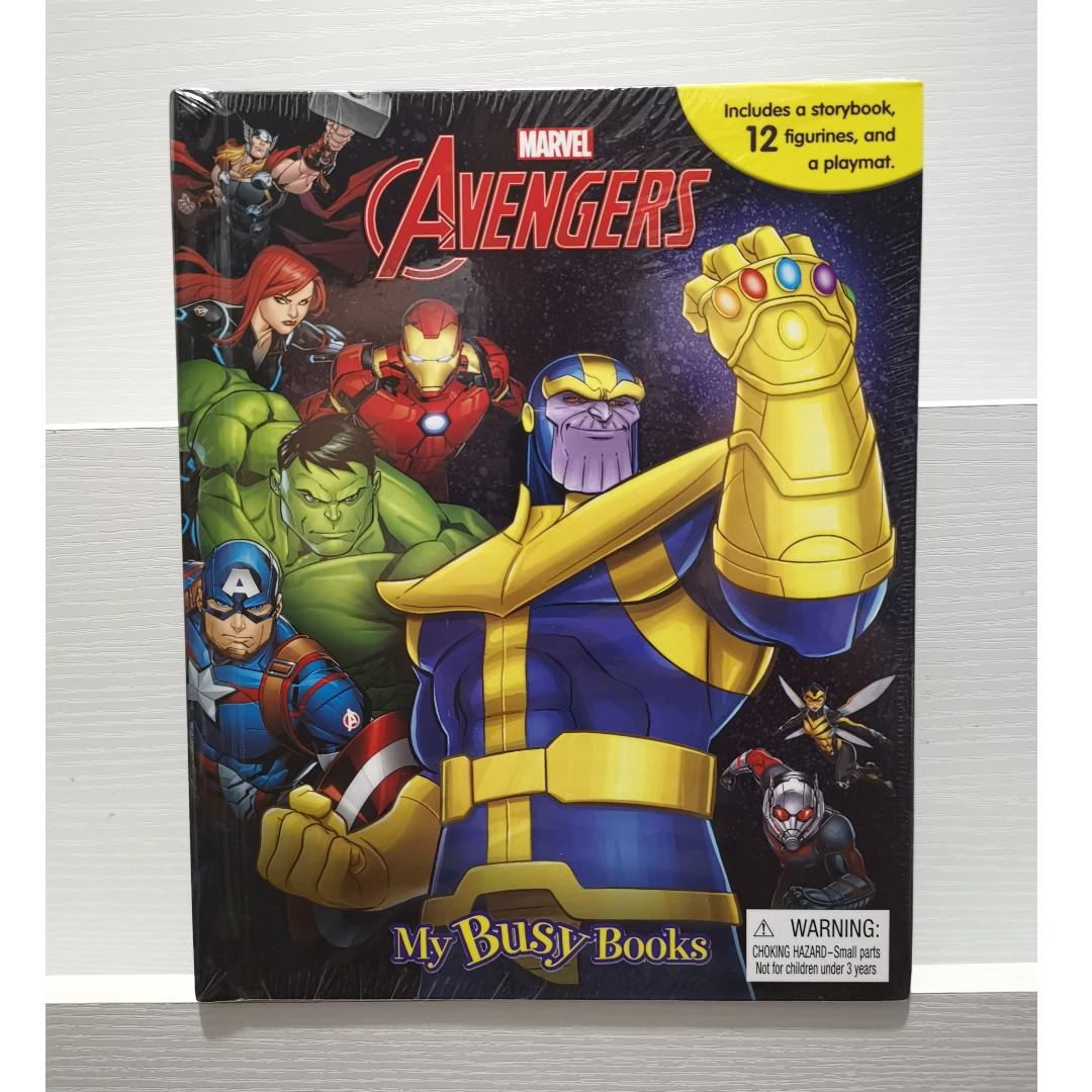 Marvel Avengers Infinity War My Busy Books Story Book with Toy Figures + Play Mat