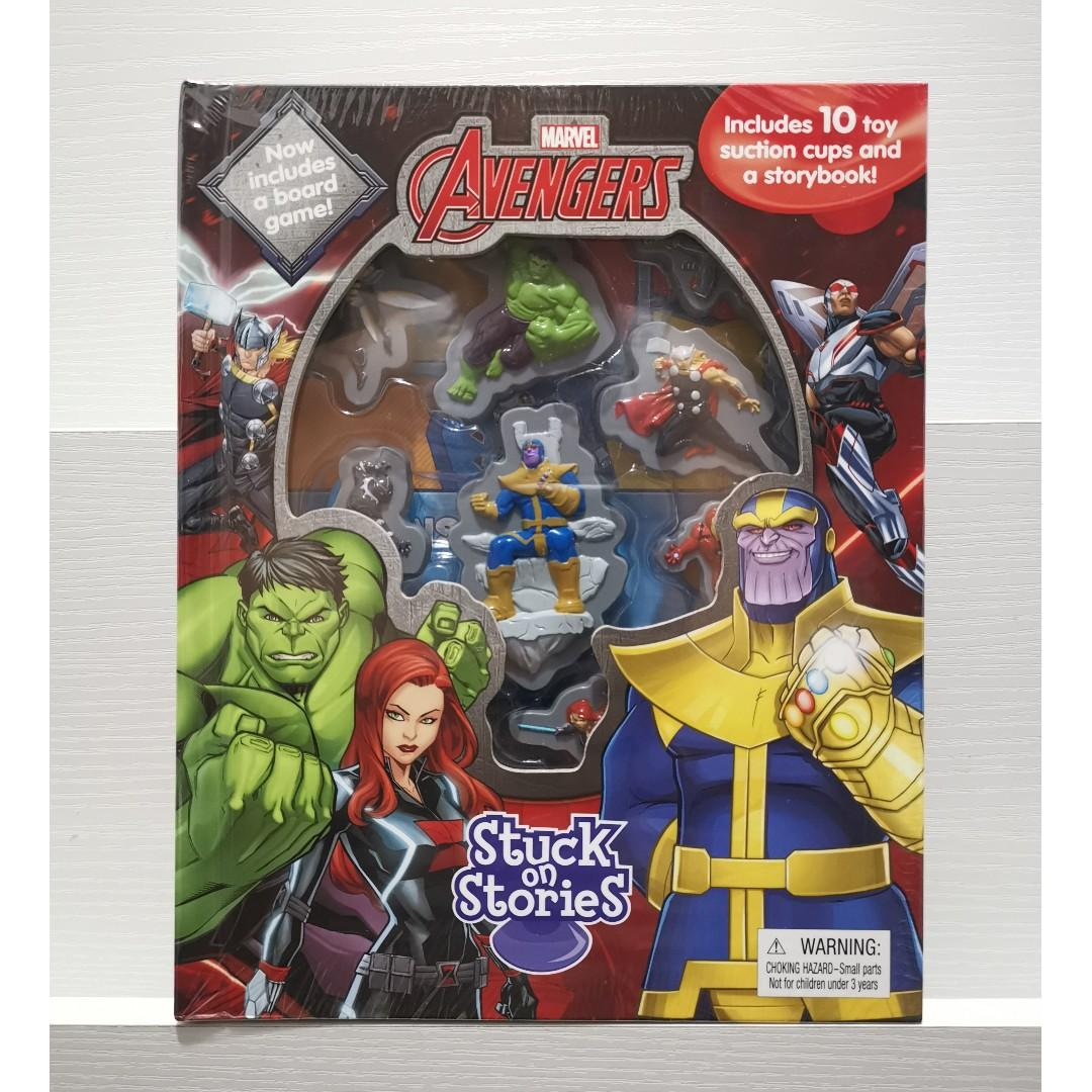 Marvel Avengers Infinity War Stuck On Stories Story + Activity Book with Board Game