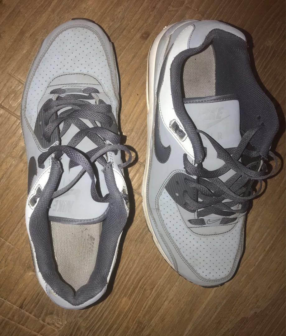 Men's Nike Air Max Grey and White US12 UK11 EUR46
