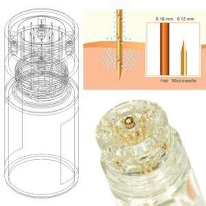 Micro infusion 24k plated micro needles glass bottles