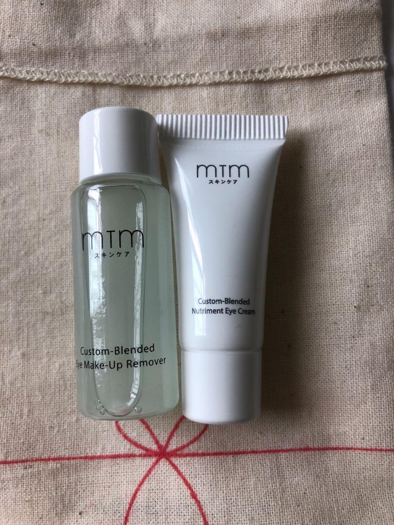 MTM eye make up remover 9ml + nutrient eye cream 3g