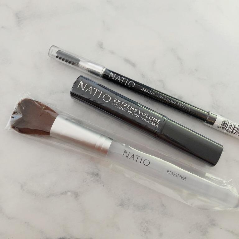 Natio Makeup Gift Set - Eyeshadow, Bronze/ Blush, Mascara, Eyebrow Pencil, BB Cream