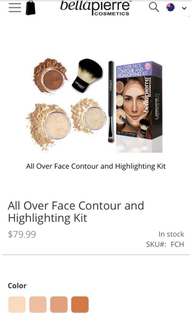 New in box Bella Pierre all over face contour and highlighting kit