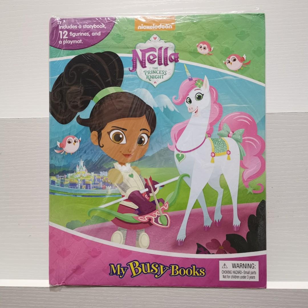 Nickelodeon Nella the Princess Knight My Busy Books Story Book with Toy Figures + Play Mat