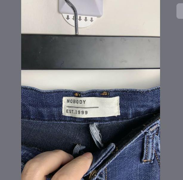 Nobody 29/M dark blue denim jeans 3/4 pants casual basic cotton blend