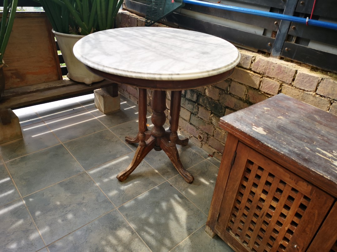 Old Coffee Shop Style Coffee Table Furniture Tables Chairs On Carousell