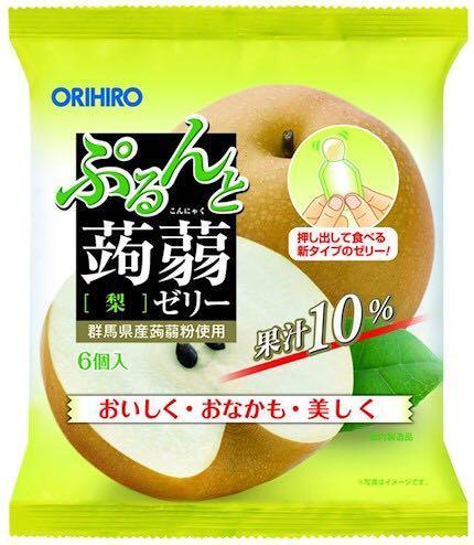 ORIHIRO REAL JUICE KONJAC JELLY 6PCS/ PACK
