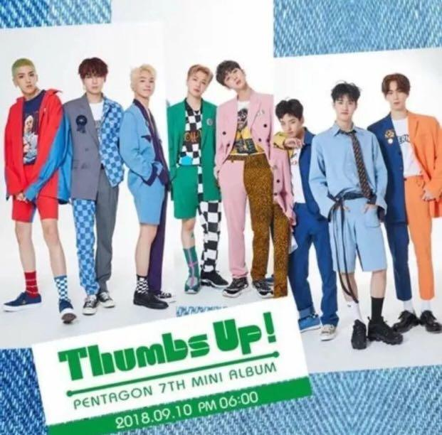 PENTAGON {THUMBS UP} 7th MINI ALBUM - BRAND NEW WITH 1 HARD COVER PHOTO BOOK + 1 RANDOM DISC CD + EVENT CARDS