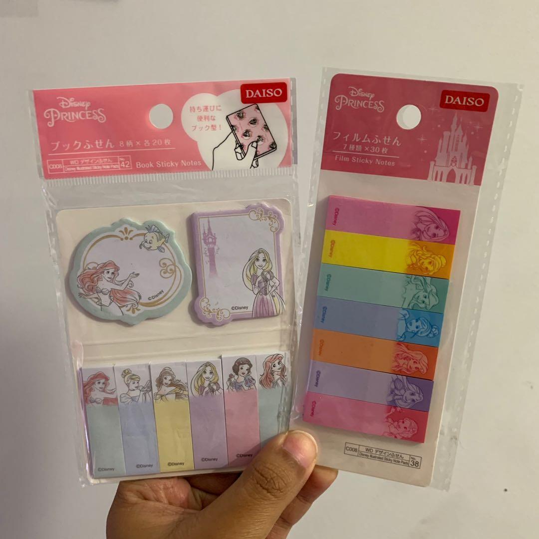 Princess Disney sticky notes by daiso