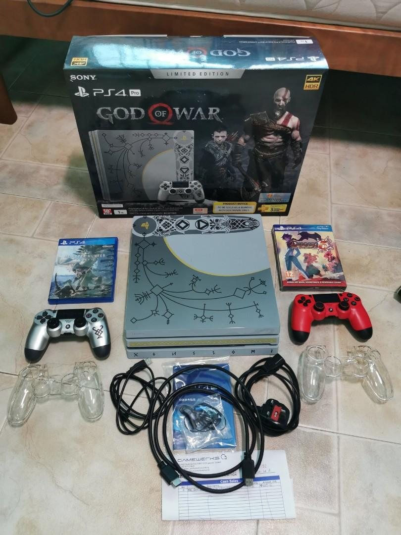 Ps4 Pro God Of War Console Bundle 1tb Toys Games Video