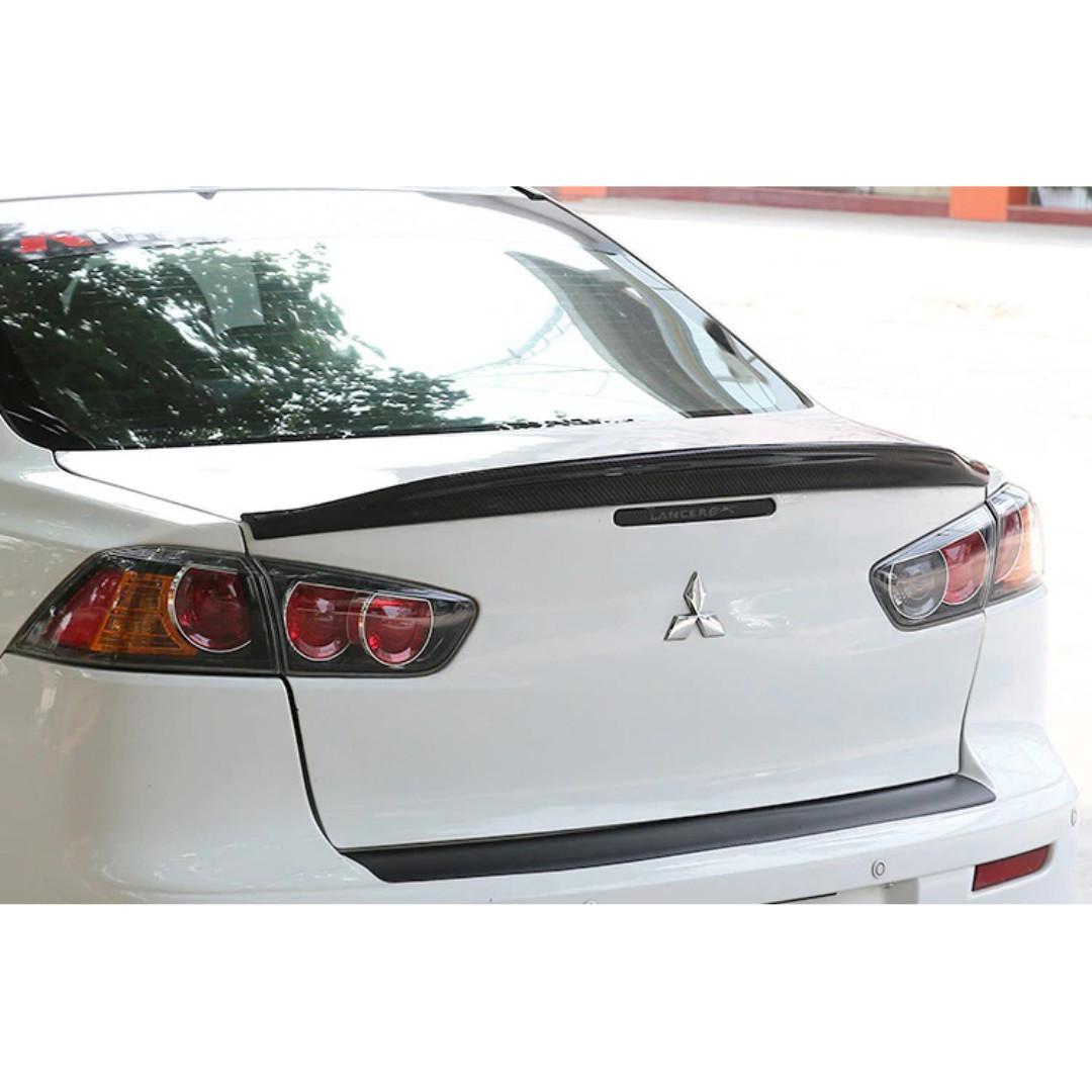 Rear PRE-CUT Emblem Decal Mitsubishi Lancer EVO X Glossy Carbon Fiber Front