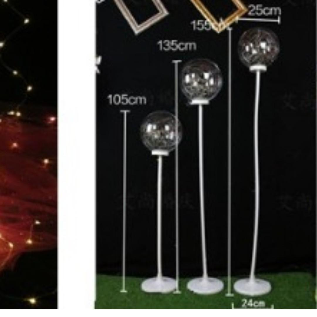 RENTAL: D204A FAIRY LIGHTS BALL AISLE STANDEE (3 IN A SET)
