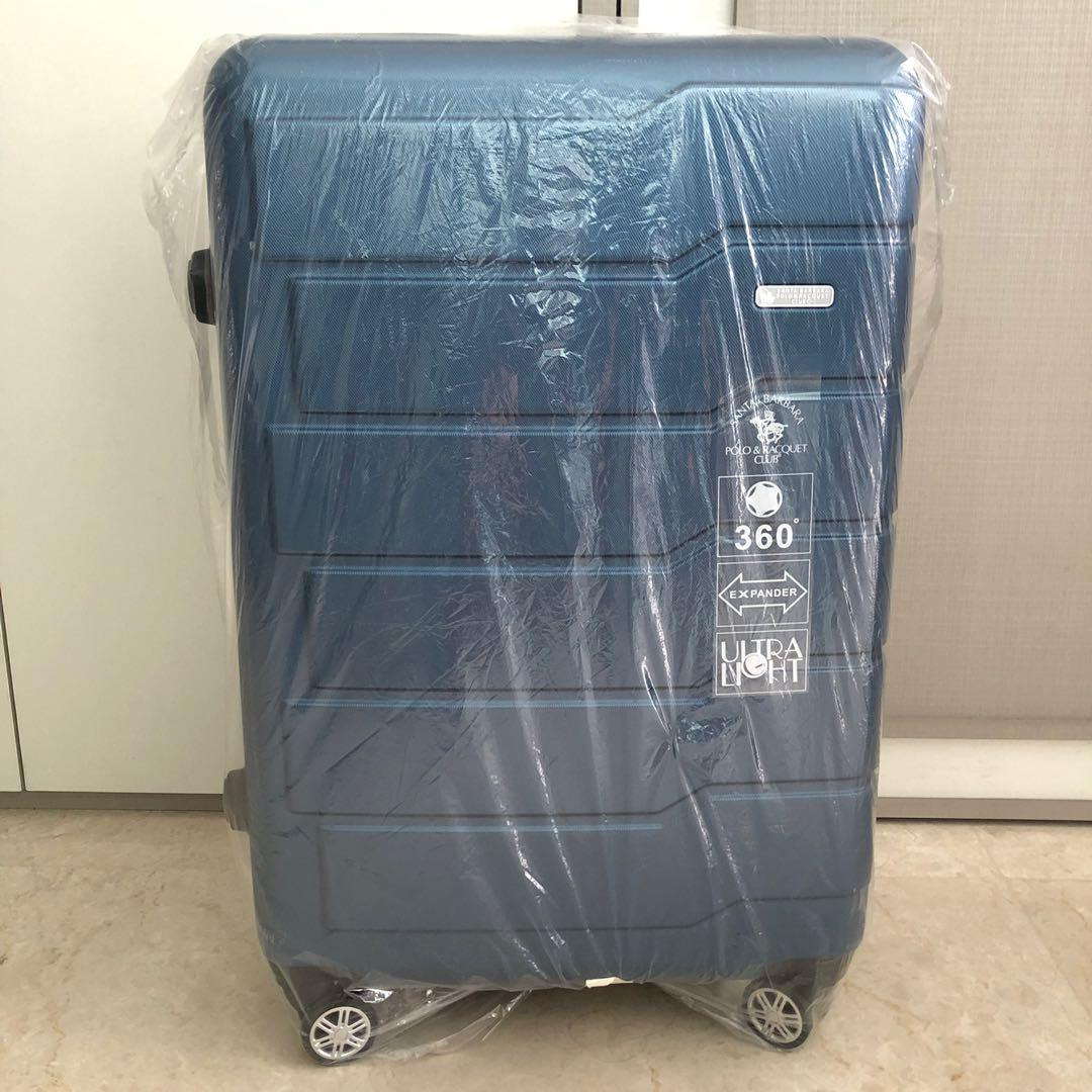 "Santa Barbara Navy Blue 28"" Expander Ultra Light Luggage/Suitcase (SB710)"