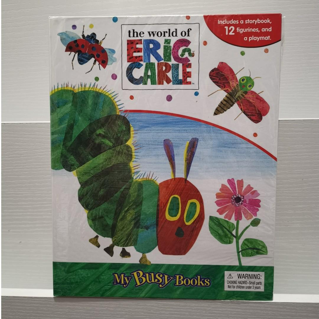 The World of Eric Carle The Very Hungry Caterpillar My Busy Books Story Book with Toy Figures + Play Mat