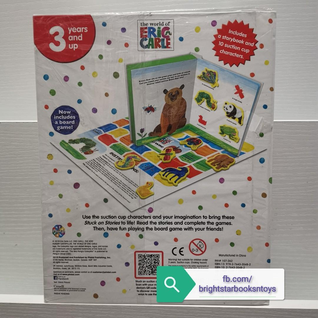 The World of Eric Carle The Very Hungry Caterpillar Stuck On Stories Story + Activity Book with Board Game