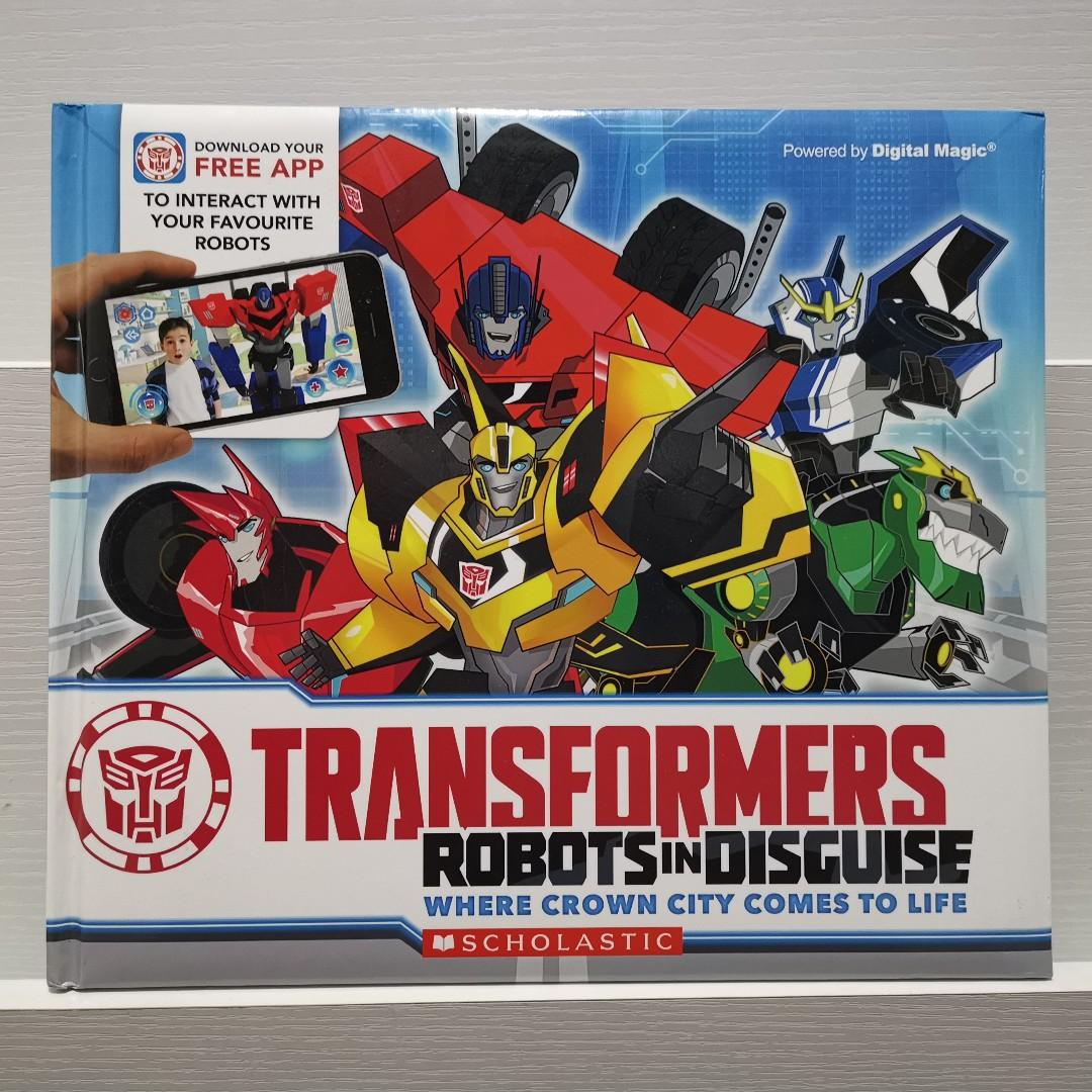 Transformers Robots in Disguise Where Crown City Comes to Life Interactive Story Book with App