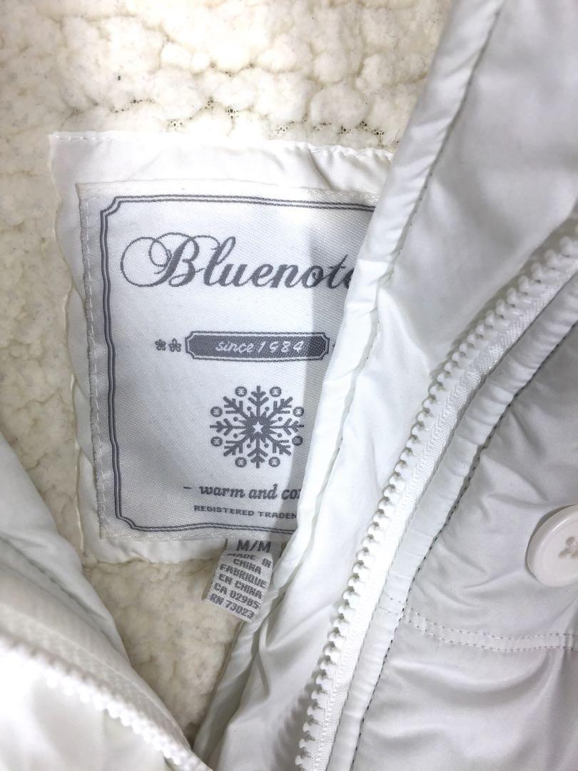 White Blue Notes Spring / Fall / Winter Vest with Hoodie