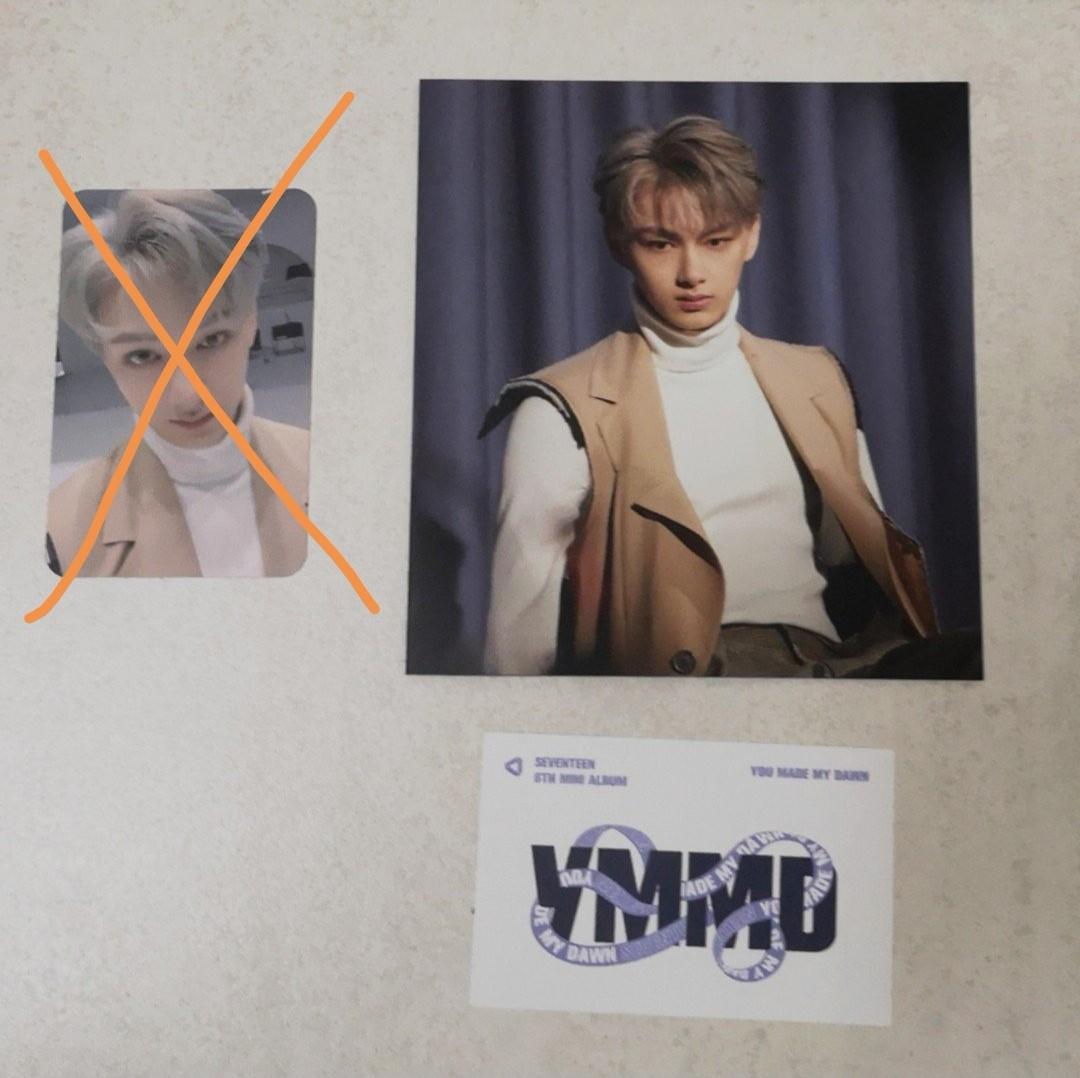 (WTS) Seventeen Jun photocard and behind the scene card