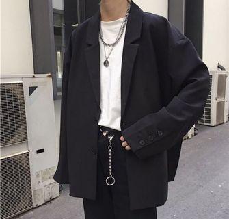 寬鬆顯瘦休閒西裝外套(L)