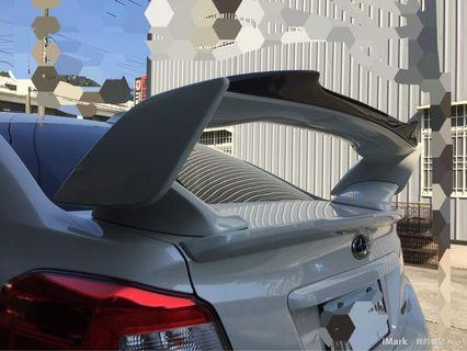(正 CARBON) 碳纖維 Subaru 速霸陸 WRX STi 後上小尾翼 2014~ 2019 大尾翼適用