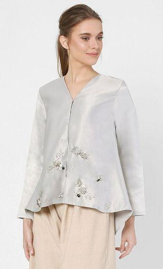 Airis Beaded Jacket in Lilac Grey (M)