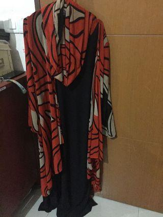 Hoody jubah XL
