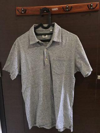Uniqlo polo shirt grey