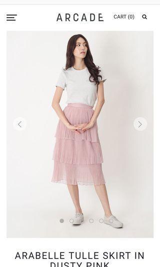 Arabelle Tulle Skirt - Dusty Pink