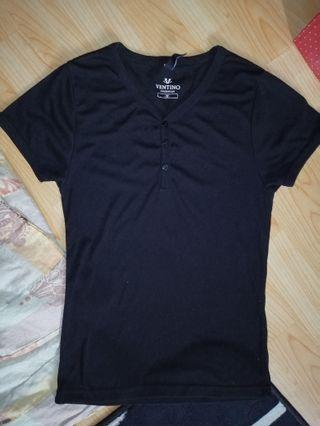 V Neck Button Tshirt