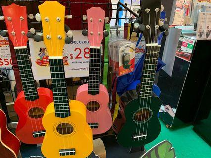 Colourful ukulele