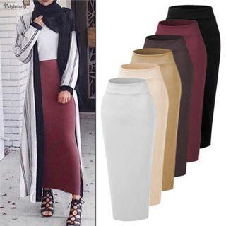 READYSTOCK PENCIL SKIRT VIRAL MIDDLE EAST FASHION