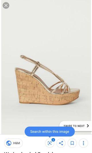 wedges h&m gold