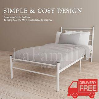 3V EY900F Powder Coat Metal Bed Frame - Single Size
