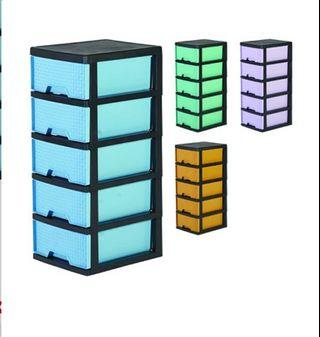 *Limited Offer*5 Tier Drawers Plastic Cabinet / Plastic Drawer / Storage Cabinet