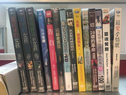 全新正版未拆封電影DVD(買5送1)